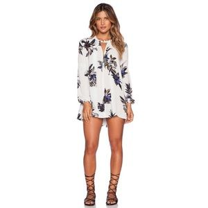 FREE PEOPLE   Long Sleeve Floral Swing Tunic   S